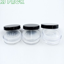 New storage 20g cosmetic sifter jars black lid with rotating sifter