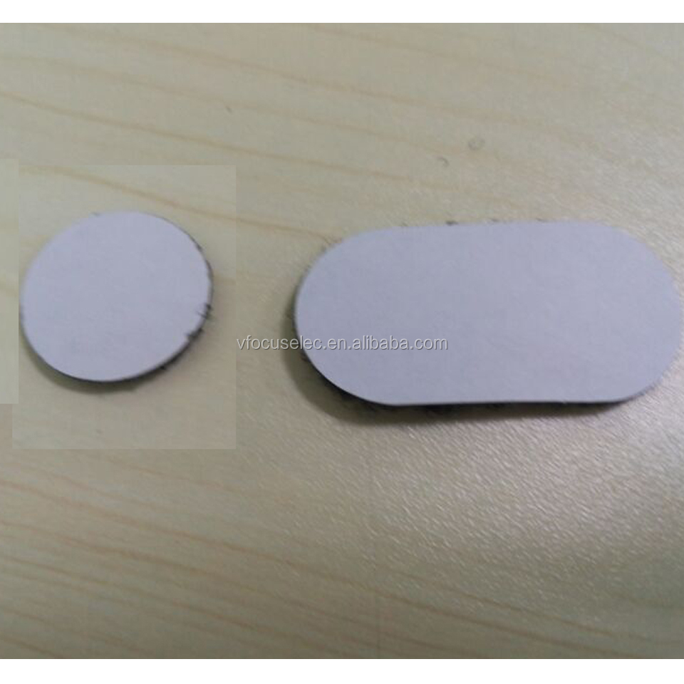 Black Hook and Loop Oval and Hook and Loop round with adhesive backings for Google cardboard 2.0