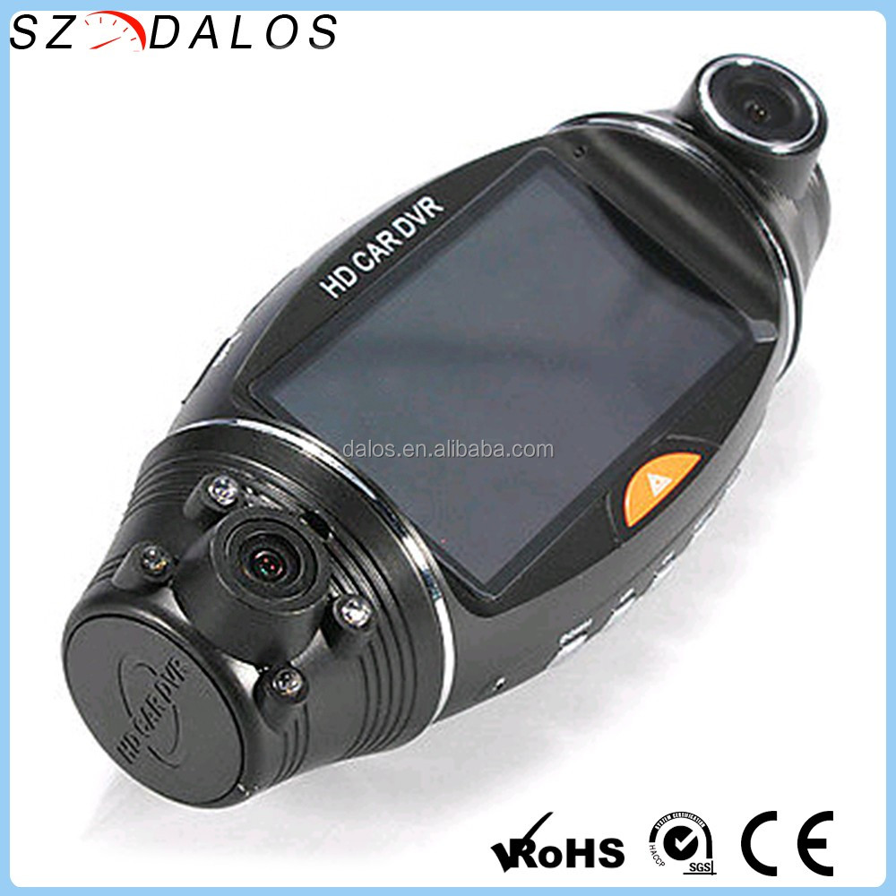 High Resolution 1080p R310 dual lens dash cam R310 2 camera car blackbox dvr with gps logger and g-sensor