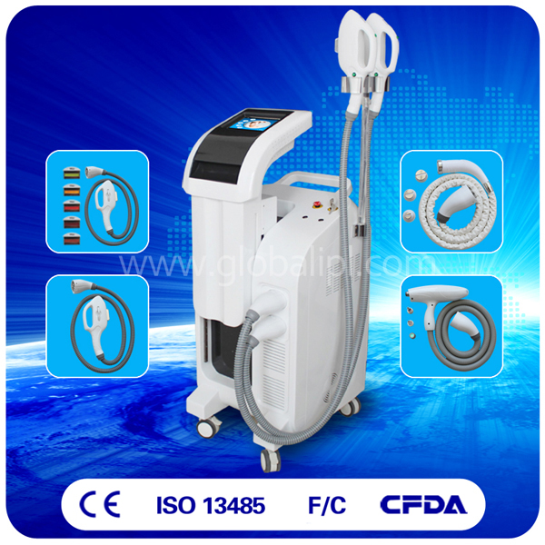 4 handles high power elight equipment ce for hair removal