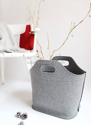 Grey Felt Tote bag Gift for Mom Felt Bag