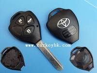 Hot sale Toyota 3 buttons remote key shell with Toy47 blade with toyota car remote key