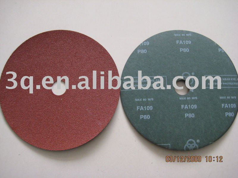 Resin fiber disc and sanding disc and abrasive disc for aluminium oxide and silicon carbide and zirconium oxide-HN