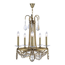 5 arms brass candle and crystal material new design pendant lamp