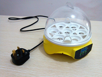 HHD Mini Automatic 7 Egg Incubator Digital Chicken Poultry Hatcher 2016