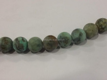 matt round frosty bead or rondelle natural gemstone African turquoise 4-20mm