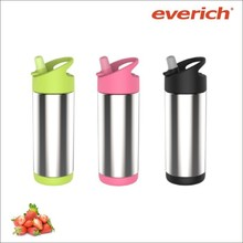 330ml double wall stainless steel water bottle for kids with straw lid