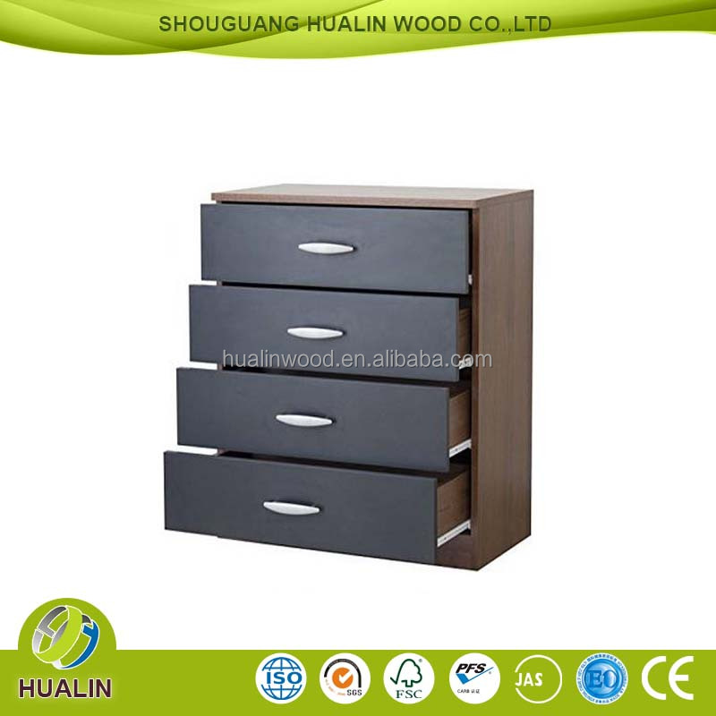 high quality 4 drawers melamine PB cabinet with many drawers