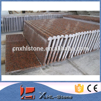 Chinese Cheap price Red stone step granite stairs prices for sale