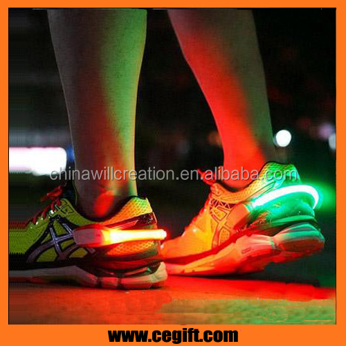 Night safety shoe signal light for running,jogging,cycling