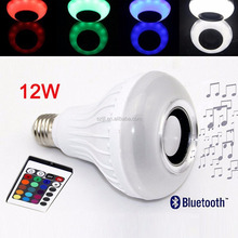 Wireless E27 Bluetooth Remote Control Mini Smart LED Audio Speaker RGB Color Bulb Party Light
