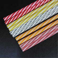 Multi color PP plastic striped drinking straw for party eco-friendly bpa free hard straw