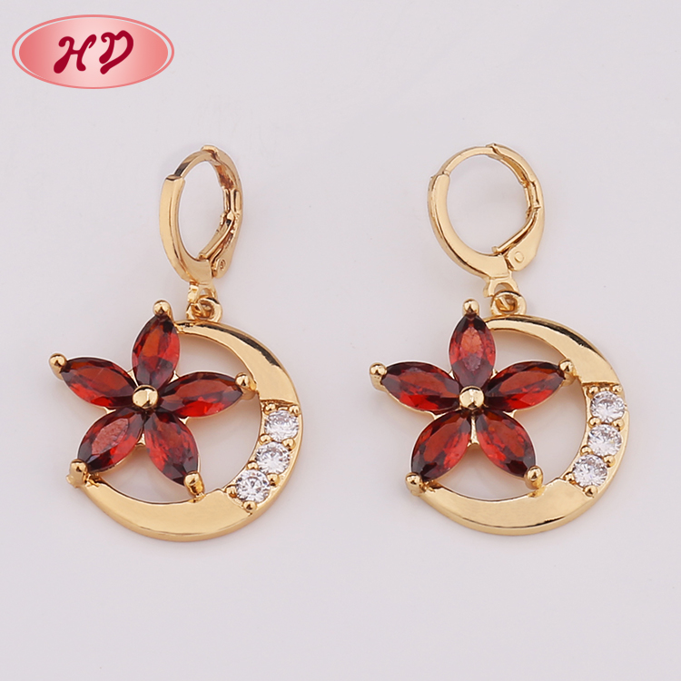 Beautiful Flower New 2017 Latest Gold Earring Designs With Price ...