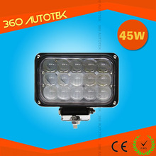 China IP68 45w 2640lm square led ring light aluminum super led work light for tractors excavator truck vehicles CE&RoHs