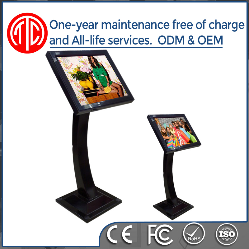 High quality standalone metal case interactive touch screen wifi karaoke machine kiosk