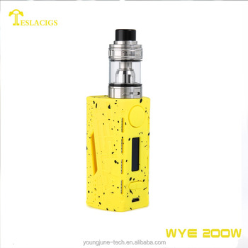 Hot selling items Tesla WYE 200w with two 18650 cells set up best mod vape supply
