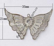2015 wholesale filigree stainless steel stamping buttely pendant