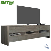 Two Layers Wood Modern LED TV Showcase Furniture With Drawers