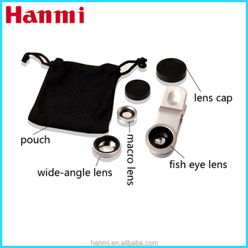 3 in 1 cell phone camera lens for sony xperia, fish eye lens