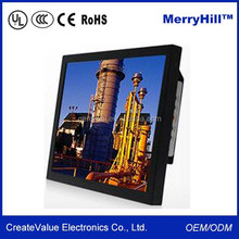4 : 3 Ratio 1024 * 768 Pixel Square 15 Inch LCD Monitor 12V With Composite Input