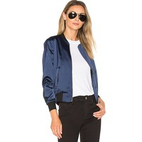 Wholesale Classic 100% Satin Casual Embroidery Jacket Women bomber Jacket