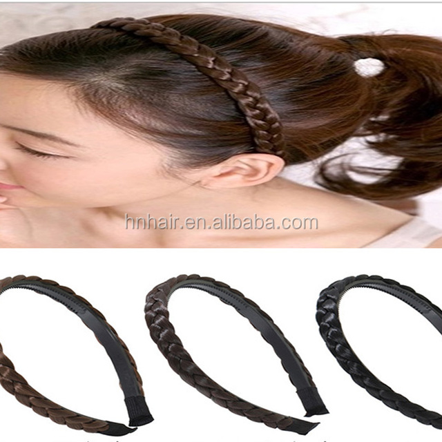 New headdress wigs with teeth hairband twist braids headband hairpin wholesale