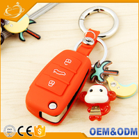 Silicone Cover Holder Shell, protective case cover for Audi Folding Flip Remote Key Fob Case