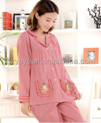female 100% cotton sleep set ladies home clothes sleep wear Shorts pajamas for women
