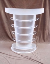 Designs transparent acrylic led church pulpit with led light