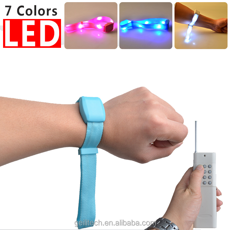 Cheap factory price custom logo led wristband remote control light up led bracelet