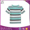 100% cotton colorful design short sleeve round neck yarn dyed striped kids t shirts