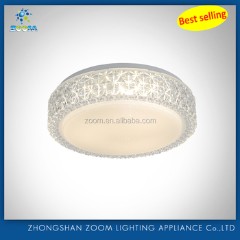 2016 latest new round led acrylic ceiling lamp modern fashion design with different size for nice home decoration