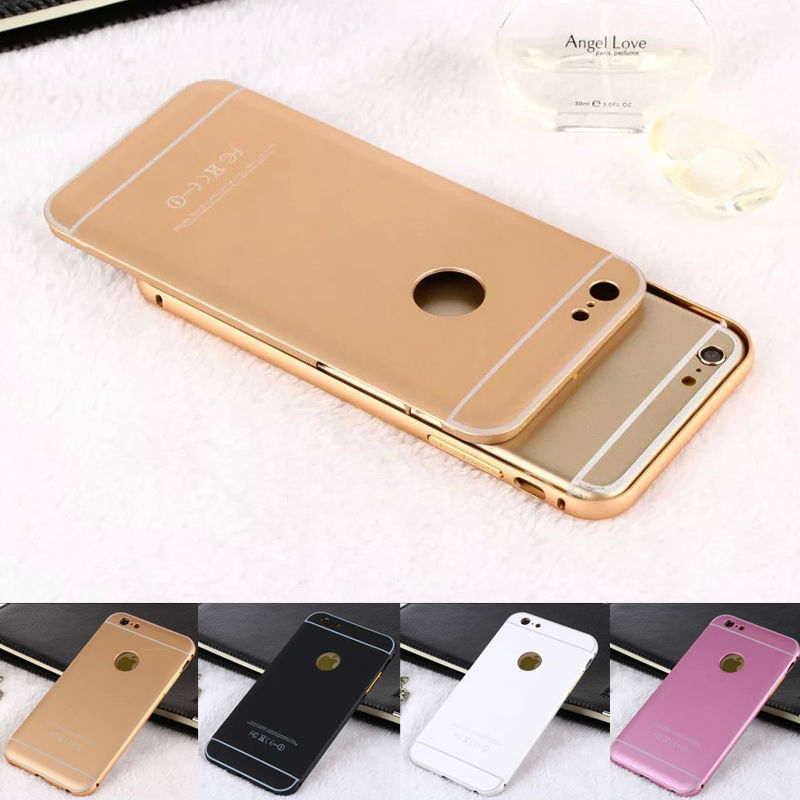 Aluminum 2 in 1 Detachable Bumper+Back Cell Phone Case for iPhone 6 6S,Aluminum Bumper for iPhone Cases