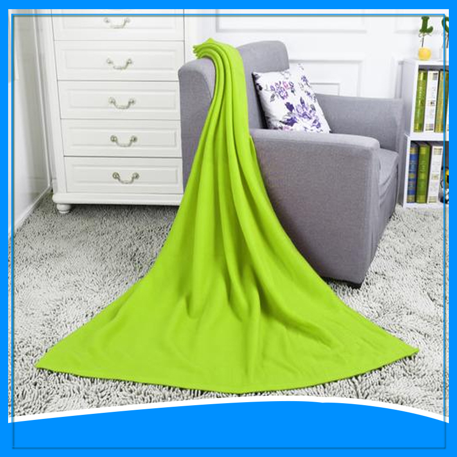 china blanket wholesale green natural polar fleece blanket