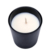 black frosted white 10oz glass candle jar