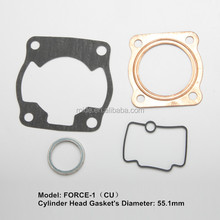 aluminium or copper material motorcycle full gasket for FORCE-1