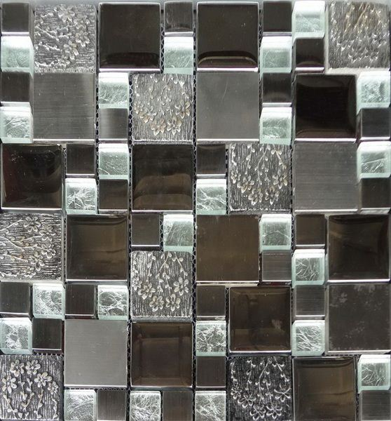 Latest design decoration wall tile floor tile glass mix ceramic mosaic glazed blue ceramic swimming pool tile