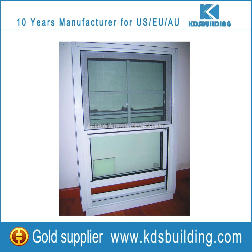 White Pvc Jalousie Window with Screen Net Use American Style