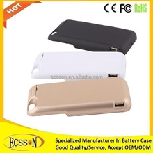 7000mAh rechargeable battery case for iphone , super battery case for iphone 6 , 18650 battery case with MFI