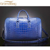 classic design croc embossed cow leather duffle bag travelling weekend bag