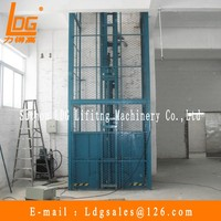 Warehouse small hydraulic cargo lift with SJD0.5-4D-2