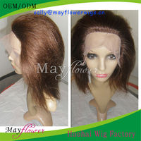 Natural looking human brazilian hair lace front wig for african american yaki hair style