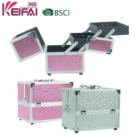 Discount Newest Cosmetic Luxurious Makeup Case With Adjustable Dividers