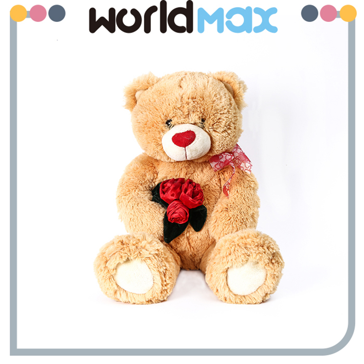 New Arrival And Adorable Rose Bear Wholesale Baby Plush Toy