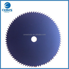 China quality line 255X80Tx25.4x1.6mm tct trimmer saw blade for grass cutting in jiangsu