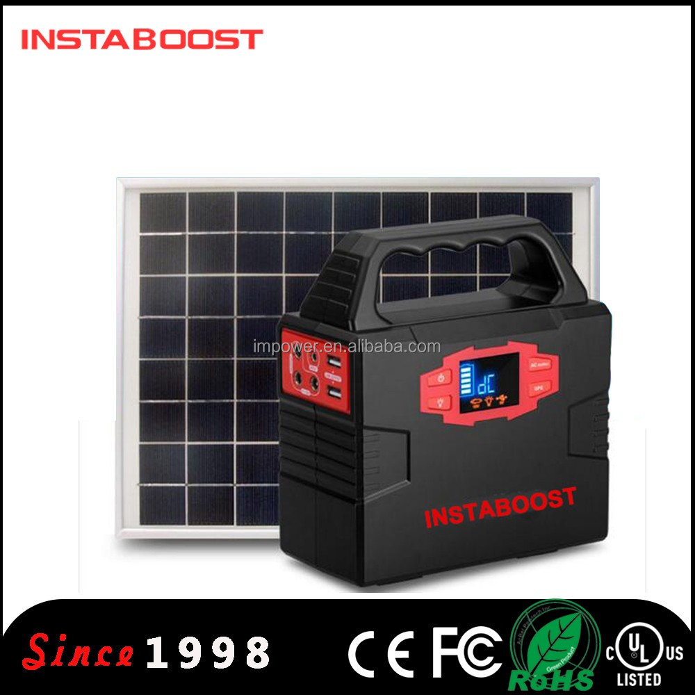 INSTABOOST 12V Portable Solar Power Systerm Battery for home lighting/camping