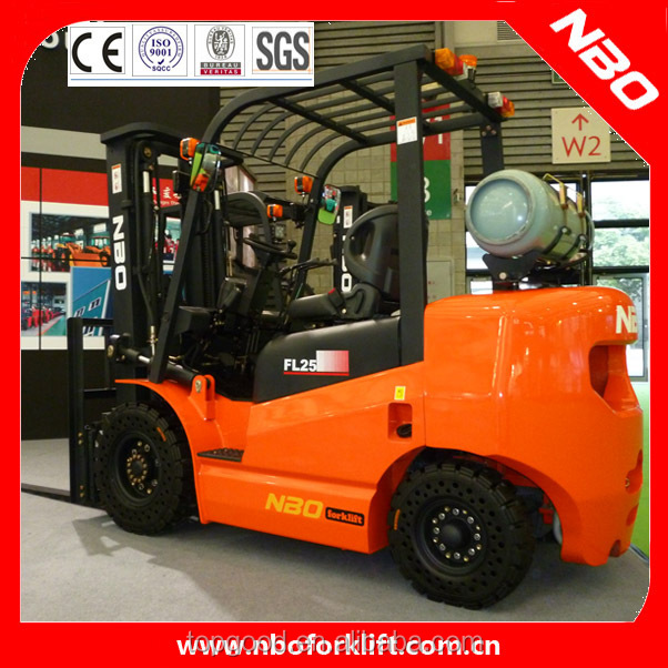 NBO small LPG/gasoline forklift, 1.5 ton mini gas forklift truck for sale