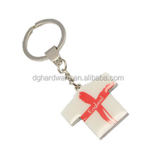 Metal key chain - printed mini T-shirt shape key ring