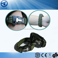 Outdoor Multifunction Survival Paracord Bracelet