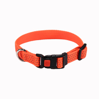 Free Sample Reflective Nylon Dog Collar With Explosion-Proof Buckle